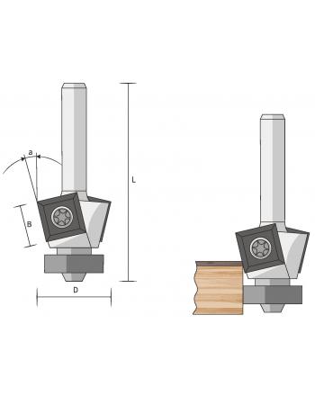 Wendeplatten-Fasefräser HM (Auslaufartikel)