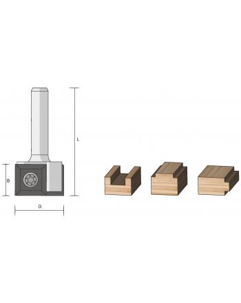 Wendeplatten-Falz- u. Bündigfräser HM (Auslaufartikel)