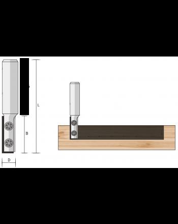 Wendeplatten-Nutfräser HM 1-schneidig (Auslaufartikel)