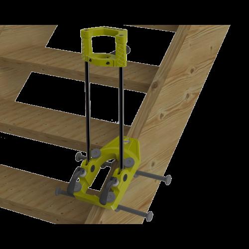 Treppenbaubohrständer schwenkbar